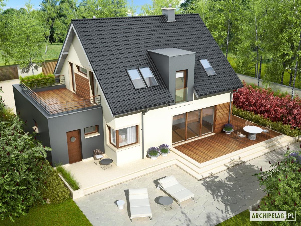 Проект одноэтажного дома с мансардой и гаражом в Челябинске от 150 до 200 м. Размеры дома: 15 Х 10 м...